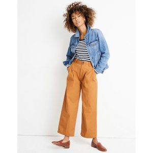 NWT Madewell Pleated Wide-Leg Pants